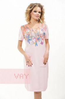Платье женское 181-2329 Фемина (Бледная роза)