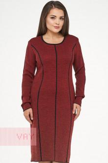 Платье женское 182-2312 Фемина (Черный/красный мак)