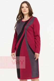 Платье женское 182-2308 Фемина (Ягодный/графит/черный)