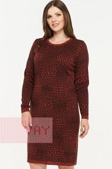 Платье женское 2299 Фемина (Кирпичный/черный)