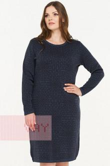 Платье женское 2299 Фемина (Темный джинс/мокрый асфальт)