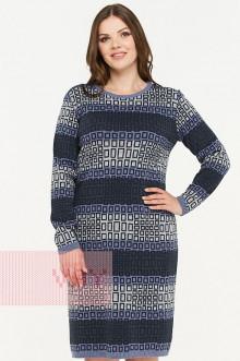 Платье женское 2298 Фемина (Светлый джинс/темно-синий/темный джинс/светло-серый меланж)