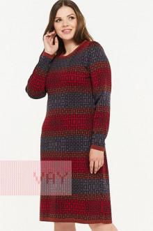 Платье женское 2298 Фемина (Кирпичный/мокрый асфальт/кармин/графит)