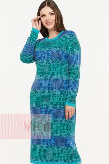 Платье женское 2298 Фемина (Светлая лагуна/графит/яркая бирюза/гжель)