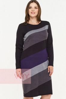 Платье женское 2295 Фемина (Мокрый асфальт/графит/стальной/фиолетовый)