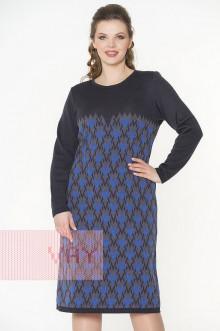 Платье женское 2290 Фемина (Мокрый асфальт/графит/звездный)