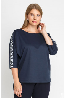 "Блуза ""Лина"" 4161 (Синий темный)"