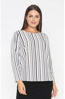 """Блуза """"Лина"""" 4150 (Серый полоска)"""