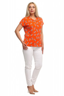 """Блуза """"Олси"""" 1707012S ОЛСИ (Оранжевый)"""
