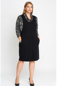 """Платье """"Лина"""" 52106 (Черный,белый 2)"""
