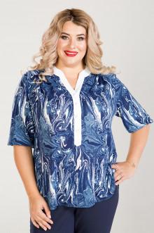 Блузка 754 Luxury Plus (Синий)