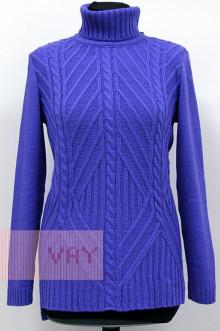 Свитер женский 182-4753 Фемина (Фиолетовый)