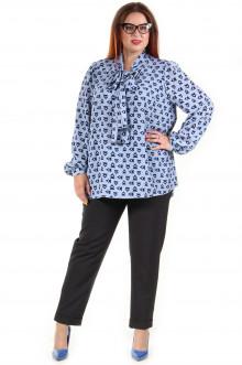 Блузка 617 Luxury Plus (Голубой)