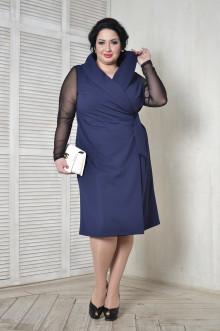 Платье 098703 ЛаТэ (Темно-синий)
