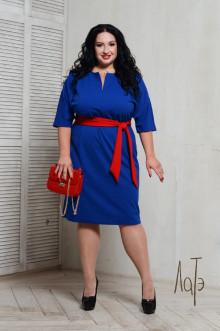Платье 066501 ЛаТэ (Васильковый)