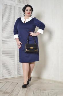 Платье 099102 ЛаТэ (Темно-синий)