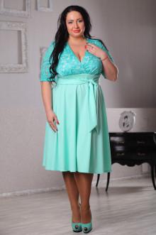 Платье 043602 ЛаТэ (Ментоловый)