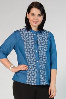 """Рубашка-жакет """"СКС"""" 2919 (Голубой/белый)"""