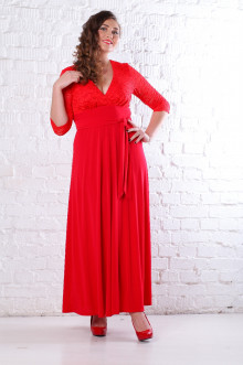 Платье 066803 ЛаТэ (Красный)