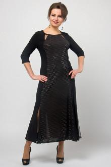 """Платье """"СКС"""" 4762 (Черный/серебро)"""