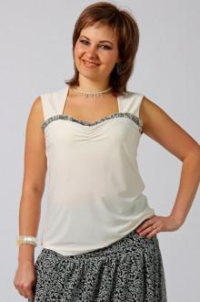 "Блуза ""СКС"" 223 (Крем-серый дизайн отделка)"