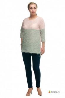 "Блуза ""Олси"" 1710001/1 ОЛСИ (Фисташка/розовый)"