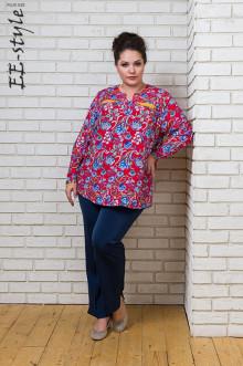 """Блуза """"Её-стиль"""" 1097 ЕЁ-стиль (Красный)"""