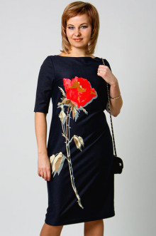 """Платье """"СКС"""" 4765 (Синий-красный-беж)"""