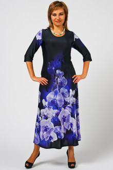 """Платье """"СКС"""" 1014 (Неоновые орхидеи)"""