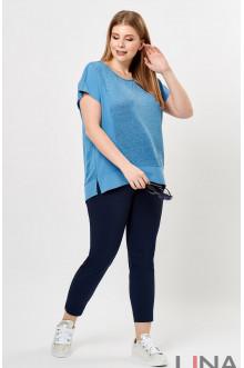"""Блуза """"Лина"""" 4194 (Голубой)"""
