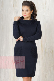 Платье женское 2214 Фемина (Темно-синий)