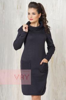 Платье женское 2214 Фемина (Мокрый асфальт)