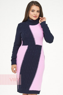 Платье женское 182-2334 Фемина (Темно-синий/розовый)