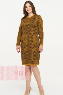Платье женское 182-2321 Фемина (Горчица/черный)