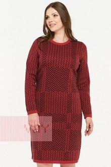Платье женское 182-2321 Фемина (Темная керамика/черный)
