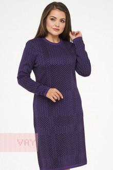 Платье женское 182-2321 Фемина (Фиолетовый/черный)