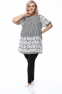 Блуза 0088-001 Грация Стиля (Белый)